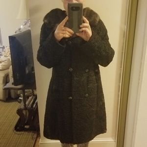 Vintage Persian Lamb Double Breasted Coat